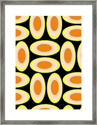 Circles Framed Print by Louisa Knight
