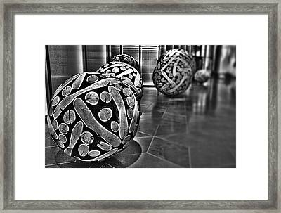 Circles Of Wood Framed Print by Douglas Barnard