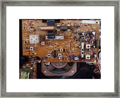 Circuit Board In A Portable Radio Framed Print by Andrew Lambert Photography