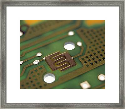 Circuit Board Framed Print by Lawrence Lawry