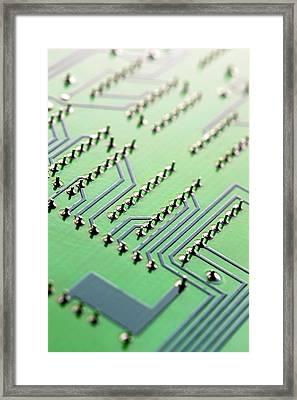 Circuit Board Framed Print by Maria Toutoudaki