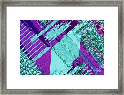 Circuit Board Framed Print by Michael W. Davidson