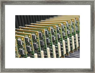 Circuit Board Production Framed Print by Ria Novosti