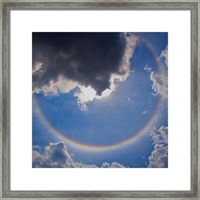 Circular Rainbow - Square Cropped Framed Print