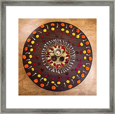 Circular Rangoli Framed Print by Kantilal Patel