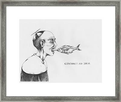 Circumit Ad Idem Framed Print by Canis Canon