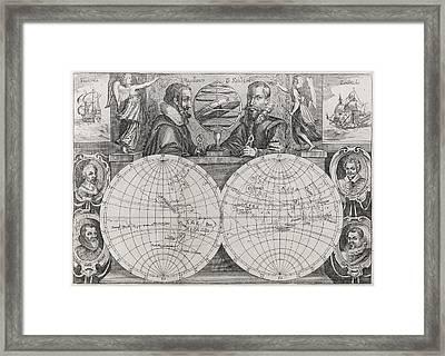 Circumnavigators, 16th To 17th Century Framed Print