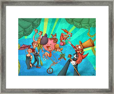 Circus 2 Framed Print by Autogiro Illustration