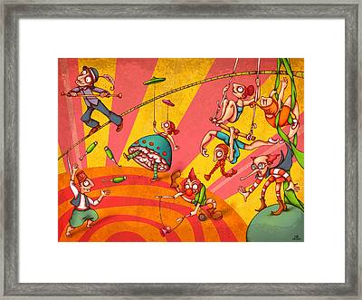 Circus 3 Framed Print by Autogiro Illustration