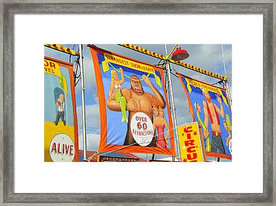 Circus Attractions Framed Print by David Lee Thompson