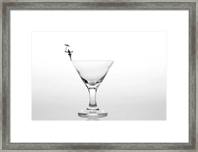 Circus Balance Game On Cup Edge Framed Print
