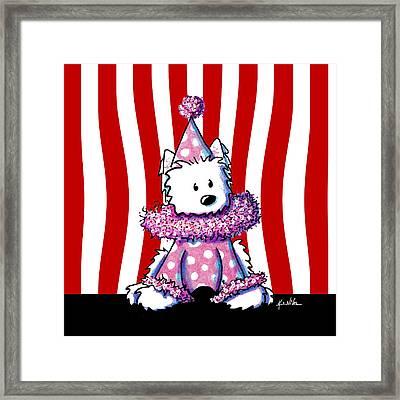 Circus Clown Westie II Framed Print