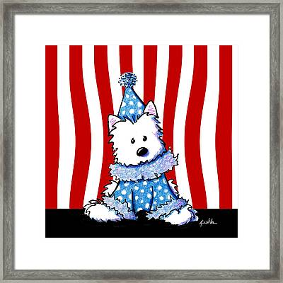 Circus Clown Westie Framed Print