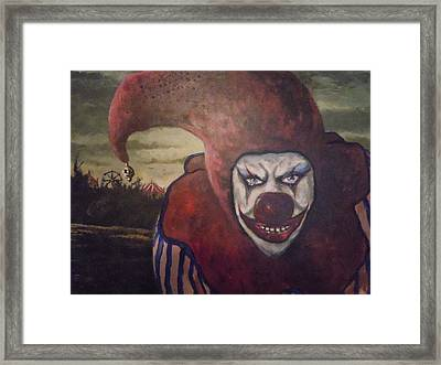 Framed Print featuring the painting Circus Greeter by James Guentner