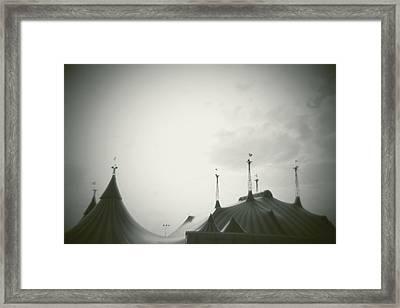 Circus Tent Framed Print by Copyright Lynn Longos