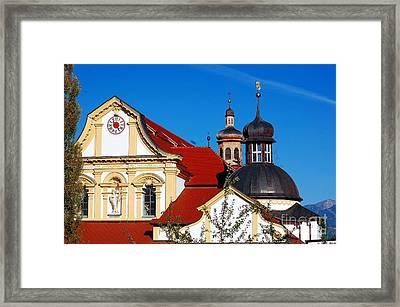 Cistercian's Basilica In Austrian Tyrol Framed Print