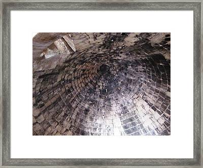 Citadel And Treasury Of Atreus Tomb Of Agamemnon Royal Tombs Dome Brick Ceiling In Mycenae Greece  Framed Print