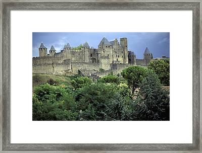 Cite In Carcassonne World Heritage Site Framed Print by Axiom Photographic
