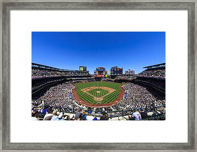 Citifield Framed Print by Rick Berk