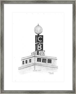 Citizens Bank Weather Ball Framed Print by Bob and Carol Garrison
