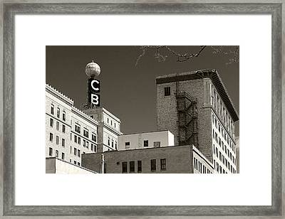 Citizen's Bank Weather Ball Framed Print by Scott Hovind