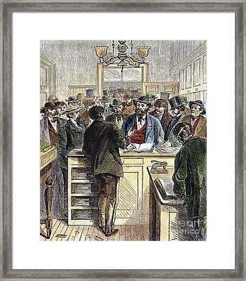 Citizenship, Nyc, 1868 Framed Print by Granger
