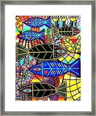 Citrine Coral Fish Framed Print