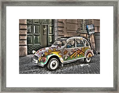Citroen In Rome Framed Print