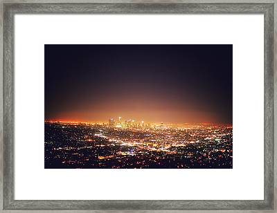 Citscape At Night Framed Print by I want to experience the world. The sceneries. The cultures.