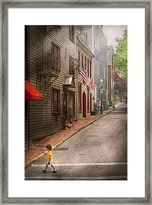 City - Rhode Island - Newport - Journey  Framed Print