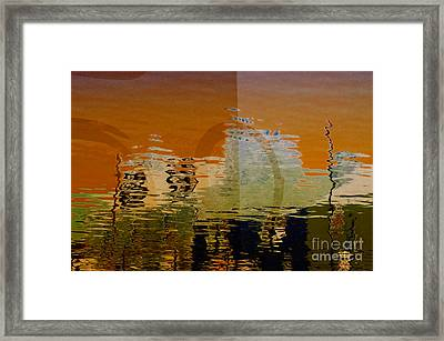 City Abstract Framed Print by Elaine Manley