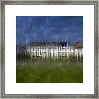 City-art Berlin Bellevue Framed Print by Melanie Viola