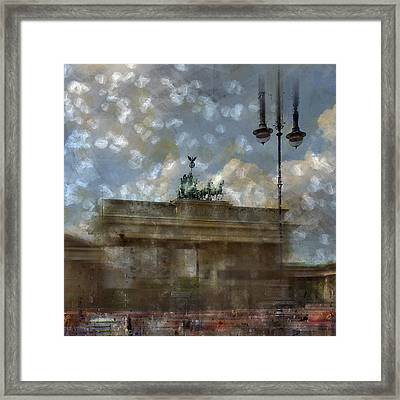 City-art Berlin Brandenburger Tor II Framed Print by Melanie Viola
