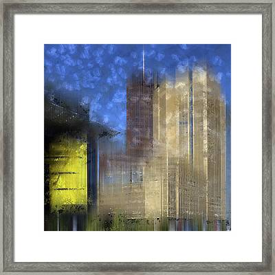 City-art Berlin Potsdamer Platz I Framed Print by Melanie Viola