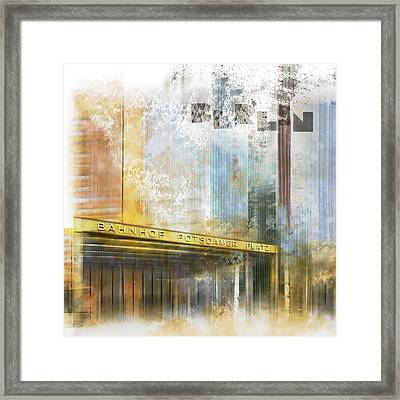 City-art Berlin Potsdamer Platz Framed Print by Melanie Viola
