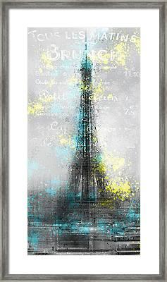 City-art Paris Eiffel Tower Letters Framed Print by Melanie Viola