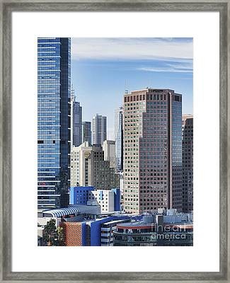 City Buildings Framed Print by Dave & Les Jacobs