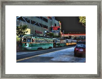 City Bus San Francisco Framed Print by Michael Cleere