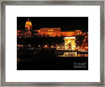 City By Night Framed Print