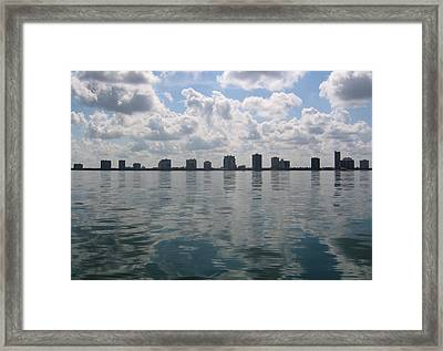 Framed Print featuring the photograph City By The Sea by Bill Lucas