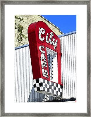 City Cafe Framed Print by David Lee Thompson