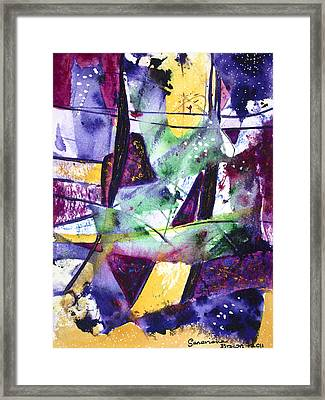 City Cats Framed Print
