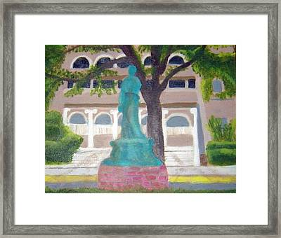 Framed Print featuring the painting City Club In Baton Rouge by Margaret Harmon