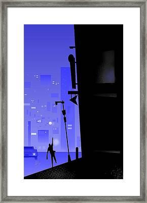 'city Corner' Framed Print by Bryan  Rhoads