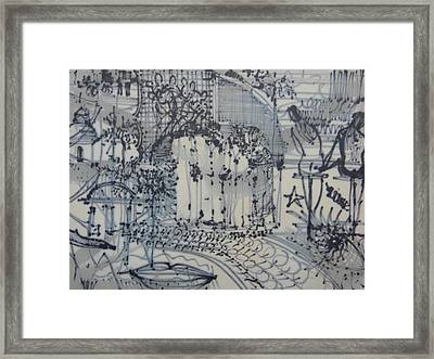 City Doodle Framed Print by Marwan George Khoury