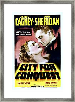 City For Conquest, Ann Sheridan, James Framed Print