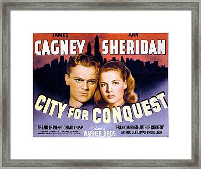 City For Conquest, James Cagney, Ann Framed Print by Everett