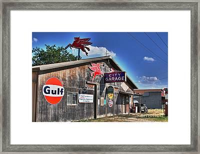 City Garage Framed Print by Joe Finney