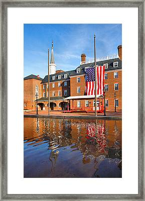 City Hall And Reflections II Framed Print by Steven Ainsworth