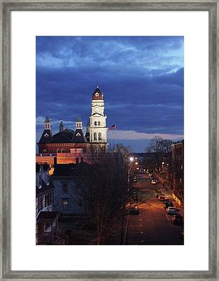 City Hall At Dusk Framed Print by Matthew Green